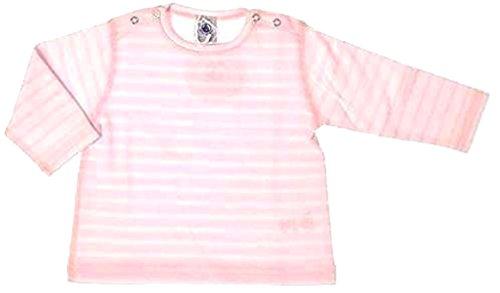 Petit Bateau Sweatshirt Ringel rosa-weiß langarm 60416 (12 Mon. - 74) (Petite Jumper)