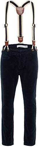 NAME IT Jungen Cordhose mit Hosenträgern festlich NMMROBIN, Größe:98, Farbe:Dark Sapphire
