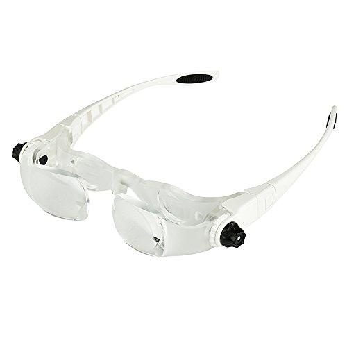 Foto de KKmoon Lupa para TV montada en la cabeza con soporte para teléfono y gafas blancas 7102-450 longitud focal de 450 mm