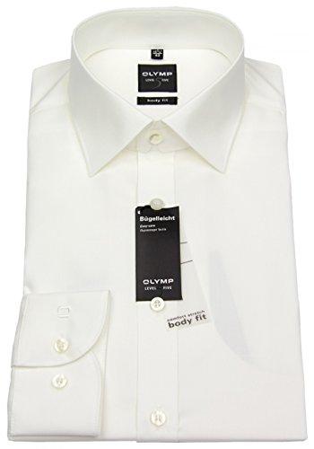 Olymp Herren Hemd LEVEL 5 BODY FIT extralange Ärmel- Gr. 45, Beige