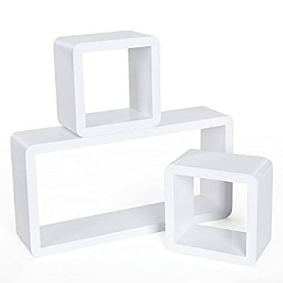 Songmics Set of 3 Floating Cube Wall Storage Shelves Lounge Cube Display Shelf produced by Songmics - quick delivery from UK.