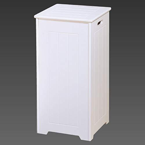 Guanheag home arredo bagno bianco armadio scaffale porta biancheria specchio porta medicine lavello, tall square laundry basket, taglia unica