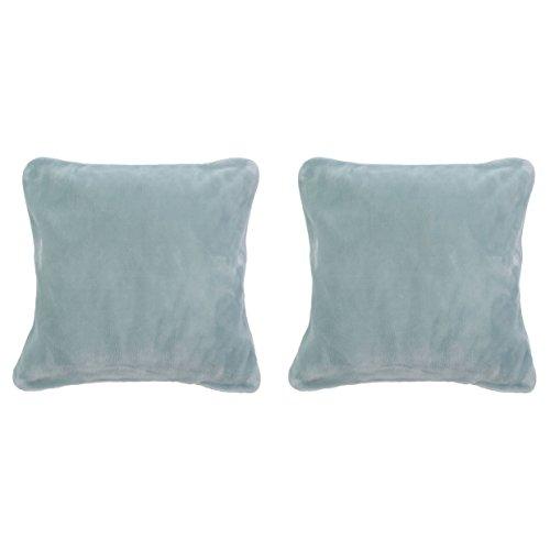 Gözze Premium Cashmere Kissenbezug, Polyester, Aqua, 50 x 50 x 5 cm, 2-Einheiten -