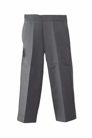 "Direct Uniforms Classic Quality Boys School/Nursery Pull-Up Trousers-Black/Grey- Ages-18Mth-7Yrs, Size:2-3Yrs 18"" Waist X 13.5"" Inside Leg, Color:Grey"