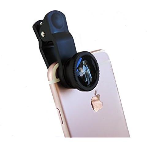 Lentes para móviles, 3 en 1 Lente para Móvil, Lente Ojo de Pez + Lente Gran Angular + Lente Macro. Compatibles con cámaras móviles Smartphone y Tablet iOS y Android. iPhone, Samsung, bq, HTC, LG, Nokia , Sony, Xiaomi, Huawei, etc. Consigue fotos profesionales con tu móvil.