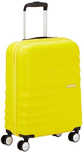 American Tourister WaveBreaker Spinner 55/20 Equipaje de Mano, 36 Litros, Color Amarillo