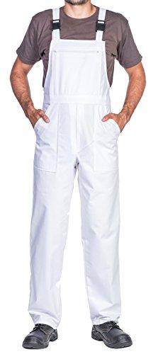 Pantaloni da lavoro uomo, taglie grandi fino S-3XL, Made in EU, colori diversi, tuta da lavoro uomo qualità (Xl, Bianco)