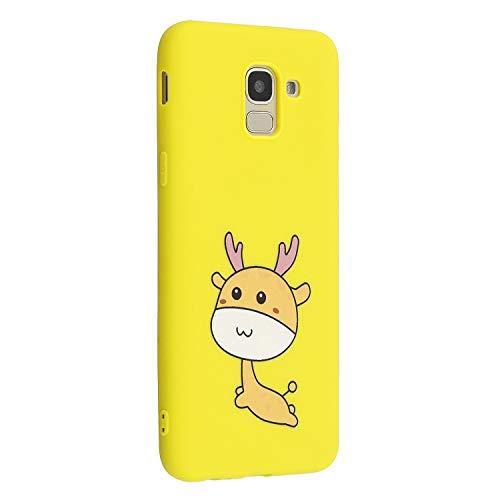 5d2e207af84 CUAgain Funda Compatible con Samsung Galaxy J6 2018 Silicona Dibujos Motivo  Mate Kawaii Ultrafina One Piece