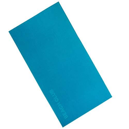 Vossen 1158440557 Beach Club - Badetuch, 100 x 180 cm, Turquoise