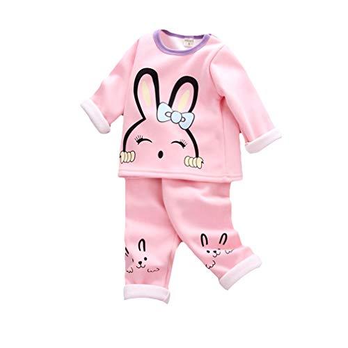 Junkai ragazzi ragazze pigiama set vestiti per bambini pile pigiameria stampa animali pigiami invernali manica lunga pjs 2 pezzi outfit per bambini