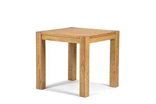 Esstisch ,,Rio Bonito,, 80x80 cm quadratisch, Pinie Massivholz, geölt und gewachst, Holz Tisch für Esszimmer, Wohnzimmer Küche, Farbton Honig hell, Optional: passende Bänke und Stühle