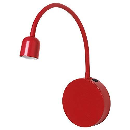 ZigZag Trading Ltd IKEA BLAVIK LED-Wandleuchte, batteriebetrieben, Rot, 4 Stück
