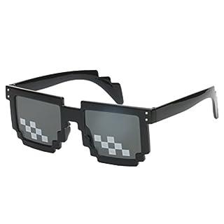 Good Night Neuheit Mosaik Sonnenbrille Pixel Code Gläser für Cosplay Foto Prop