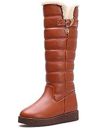 7eba3948d2ce7 Botas Para La Nieve Impermeables De Invierno Para Mujer Botas Cálidas Sobre  La Rodilla Botas Con