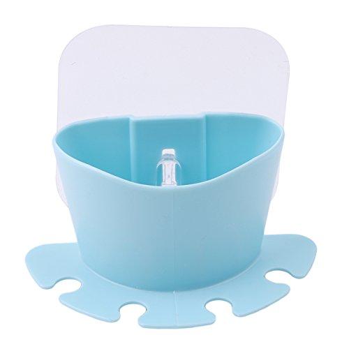 Lalang 1 Stück Cartoon Staubsaug Bad Accessoires Produkte der Wand befestigter Zahnbürstenhalter Saugnapf (Blau)
