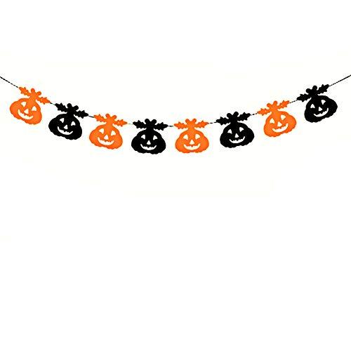 Leisial. Halloween Banner Halloween Dekorationen Trick or Treat Banner Halloween - Party Halloween-Dekoration Banner 16-18CM ()