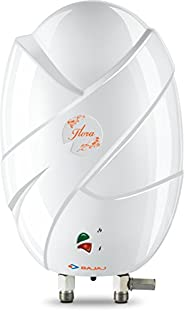Bajaj Flora Instant 3 Litre Vertical Water Heater, White (Free installation from brand)