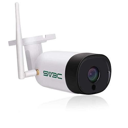 SV3C WLAN IP Überwachungskamera Aussen,5MP Wireless IP Kamera,64G SD  Karten,Zwei-Wege-Audio,Bewegungserkennung,20M Nachtsichtfunktion,  Kompatibel mit