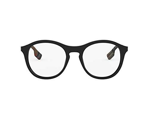 BURBERRY Brille (BE-2287 3001) Acetate Kunststoff - Metall glänzend schwarz - metalisiert silber (Schwarz Brille Burberry)