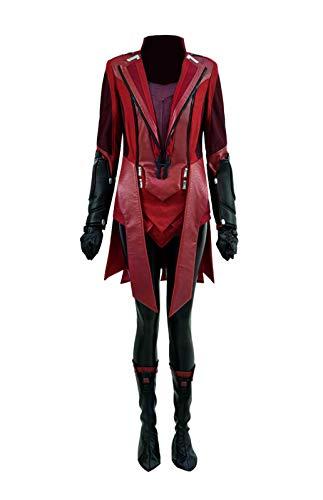 Yewei Damen Held Heißer Comic Film Kostüm Wanda Witch Rot Halloween Kostüm Outfit (Rot, M)