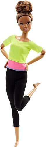 Barbie DHL83 Barbie Made to Move Puppe mit gelbem Top, bewegliche und sportliche Modepuppe mit 22 Gelenken, ab 3 Jahren (Fashion Puppen Barbi)