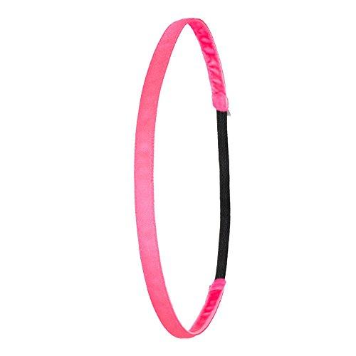 IVYBANDS Anti-Rutsch Haarband Neon Super Thin Pink One size