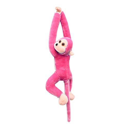 Vosarea Plüsch AFFE Langarm Schwanz hängen AFFE Puppe Vorhang Dekoration Maskottchen Geschenk (Pink) 21 Zoll (Stofftier Rosa Affe)