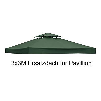 COSTWAY Pavilliondach Ersatzdach Pavillonplane Dachabzug Kaminabzug Dachplane für Pavillon 3x3M von COSTWAY bei Gartenmöbel von Du und Dein Garten