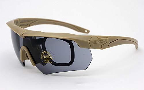 JUSTDOIT Sport-Sonnenbrille mit Wechselobjektiven für Männer und Frauen. UV400 Blendschutzgläser für Cricket, Laufen, Skifahren, Radfahren, Fahren usw,Brown