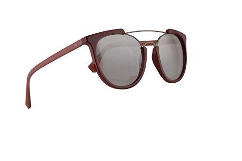 Emporio Armani EA 4122 Sonnenbrille Bordeaux Mit Grauen Verspiegelten Silbernen 53 mm 57216V