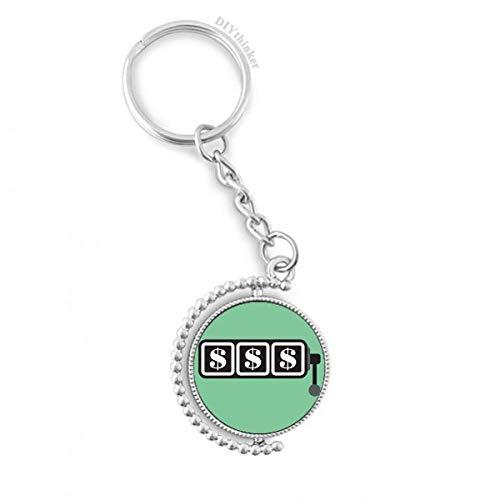 DIYthinker Gewinnen Slot Machine Illustration Muster Drehbare Schlüsselanhänger Ringe 1.2 Zoll x 3.5 Zoll Mehrfarbig Slot Car Keychain