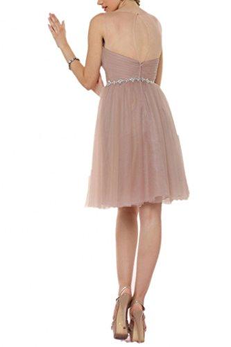 Milano Bride Charment Traegerlos Abenkleider Abschlusskleider Kleider Tuell Pailleten Kurz Mini Sage
