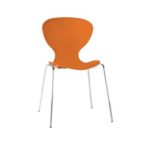 Bolero gp505Stapeln, Kunststoff Seite Stühle, orange (4Stück)
