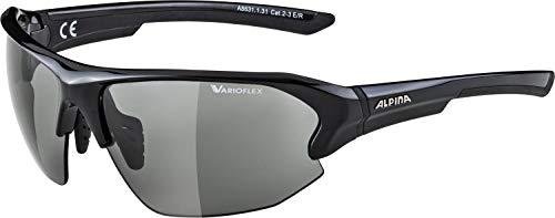 Alpina Unisex- Erwachsene LYRON HR VL Sportbrille, schwarz, One Size