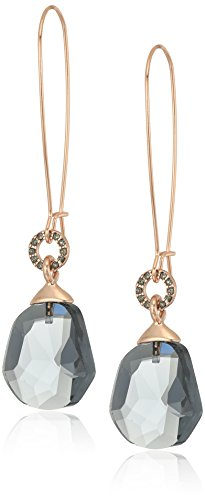 Kenneth Cole New York Supercharged Collection Women's Black Diamond Drop Earrings