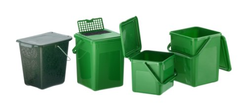 12 95 rotho 1779905053 komposteimer bio abfallbehlter fr die kche aus kunststoff mit. Black Bedroom Furniture Sets. Home Design Ideas