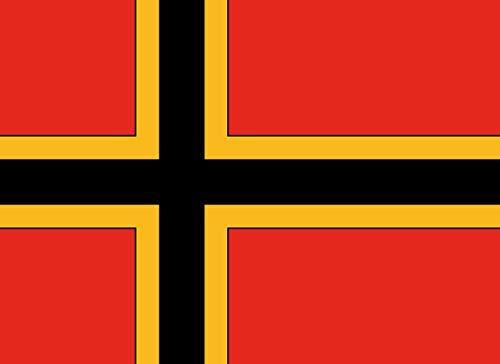 DIPLOMAT Flagge Entwurf einer Flagge für die Bundesrepublik Deutschland von Ernst Wirmer   Querformat Fahne   0.06m²   21x29cm für Flags Autofahnen