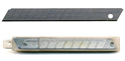 100 Abbrechklingen 9 mm 0,4 mm für Cuttermesser, Ersatzklingen, eisgehärtet