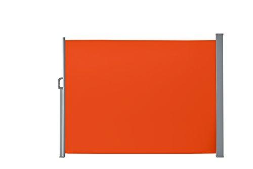 Seitenmarkise für Balkon und Terrasse, mit Bodenmontage, Sichtschutz, Sonnenschutz, Seitenrollo 160 x 300 cm, Terracotta