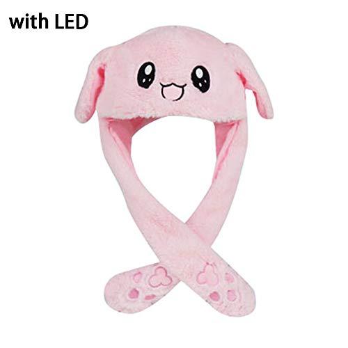 Bunny Cute Animal Hat für Kinder,Hüte Mädchen mit aufspringenden Ohren beim Drücken, Cute Cartoon Sonnenhüte Mützen,Caps Plüschtier, Geschenk (Rosa) (Bunny Rosa Ohren Hat)