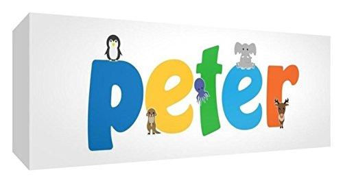 Little Helper de Peter 515blk - 15de Diamant poli Baby andenken/jeton, personnalisé avec le jeune Nom, Peter, petit, 5 x 15 x 2 cm