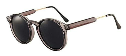 Sonnenbrille Jahrgang Frauen Runde Sonnenbrille Designer Männer Schlüsselloch Dicke Frame Sonnenbrillen Weiblichen Sonnenbrille Uv 400 Transparent Grau