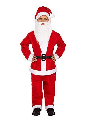 Kostüm Play Child's - Weihnachtsmann Nikolaus-Child's Dressing Up Set (Alter 4-6 Jahre)