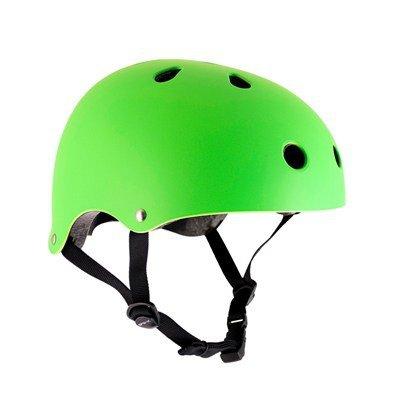 SFR Skateboard / Scooter / Inliner / Rollschuh Schutz Helm - Neon Grün - Bmx, Inliner, Longboard Helm - Schutzausrüstung Skateboard Helm, Grösse:S/M 53-56cm