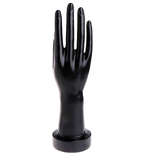 Jiamins Maniquí de mano para joyería, guantes, pulsera, collar, soporte expositor 11.02''x10.24''x6.69'' negro