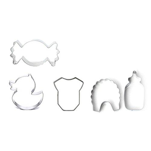 Da.Wa 5 Stück Ausstechformen Plätzchenform Fondant Ausstecher Plätzchen Schimmel Schokolade handgemachte Formen für Backzubehör Baby Serie Formen
