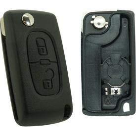 Coque de clé compatible peugeot-citroën 2 boutons