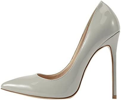 VIVIOO Tacón Alto Ocio Nuevo Design Station Office Dress Thin High Heels Bombas Zapatos Para Mujeres Siolver Point...