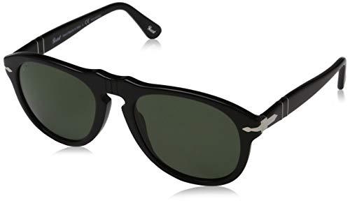 Persol 0649 Shiny Black / Grey Polarized Kunststoffgestell Sonnenbrillen, 52mm