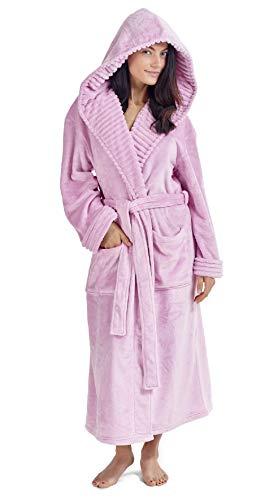 CityComfort Damen Morgenmantel Pinguin Eule Luxus Damen Kleider Plüsch Robe Neuheit Tier Kapuze Super Soft Touch Fleece Mit Kapuze Bademäntel für Sie! (S, Rosa)